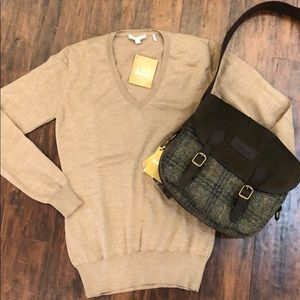 Barbour Wool V-Neck Sweater